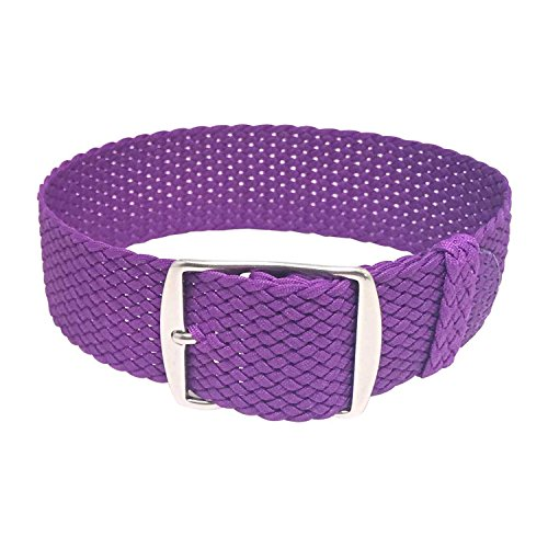 Wrist And Style Perlon Watch Strap (20mm, Violet) by Wrist & Style