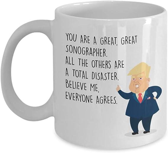 Mug Best Sonographer Birthday Christmas Jobs SONOGRAPHER Gift Funny Trump