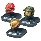 McFarlane Toys Action Figures - Halo 3 Helmet 3-Pack Wave 2 - SCOUT (Red), MASTER CHIEF (Olive), EVA