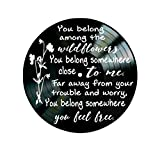 Tom Petty Wildflower lyrics on Vinyl Record Wall Decor