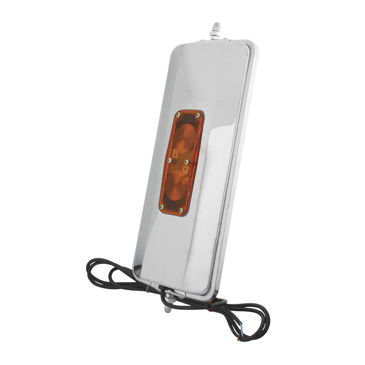 Buses GG Grand General 0 Grand General 33311 Stainless Steel Heated West Coast Mirror with Lighting feature for Trucks Utility Vehicles and More