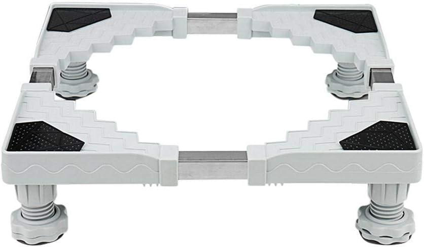 per Soportes para Lavadoras y Refrigeradores Ajustables Multifuncionales Estantes de Alzador para Muebles de PP y Acero Inoxidable