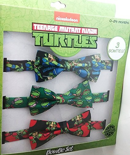 Ninja Turtles Infant Baby Boys 3pc Printed Bow Tie Set For 0-24 Months Blue/Green/Red