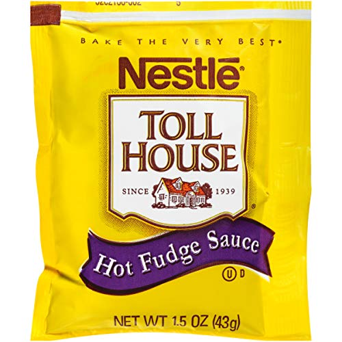 Nestle Hot Fudge Sauce Single Serve (1.5 oz. Packets, Pack of 100)