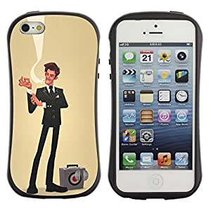 Suave TPU GEL Carcasa Funda Silicona Blando Estuche Caso de protección (para) Apple Iphone 5 / 5S / CECELL Phone case / / sir businessman yellow sales bulls eye /