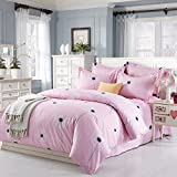 California King Versus King Size Bed Simplelife Bedding Collection Dandelion Seed 4pc Duvet Cover Set Pink Floral Garden Style King Size