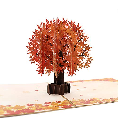 Fusolo 3D Pop Up cards, Golden Maple Tree Cards, Birthday Cards, Mom Cards, Thank you Cards, Greeting Cards (Golden Maple) for $<!--$9.97-->