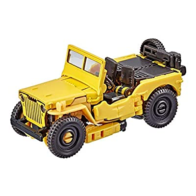Transformers Toys Studio Series 57 Deluxe Class Bumblebee Movie Offroad Bumblebee Action Figure – Adults and Kids Ages 8 and Up, 4.5-inch: Toys & Games