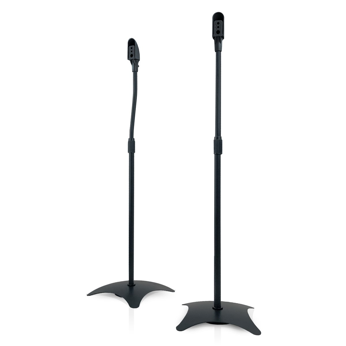 9HORN Pair of Metal Speaker Stands Height Adjustable (Black, 1 Pair) by 9HORN
