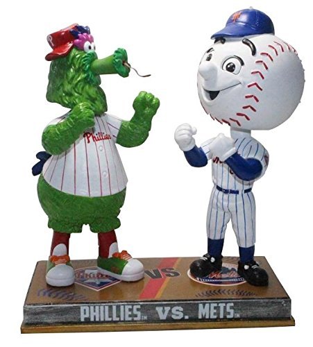 FOCO Philadelphia Philles and New York Mets - Phillie Phanatic and Mr. Met Rivalry Special Edition Bobblehead