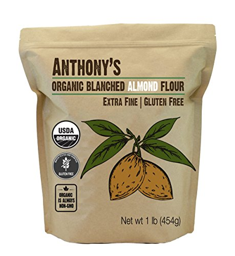 Anthony's Organic Almond Flour (1lb), Blanched, Gluten Free, Non-GMO