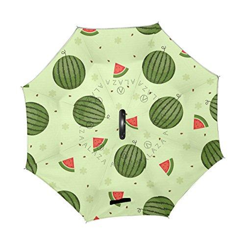 imperméable d'eau Coupe Revers extérieur parapluie et à grand poignée de de pour parapluie couche avec UV coupe melon forme usage voiture Coosun Protection en vent vent de C double imperméable droit inversé Z8qRrZ