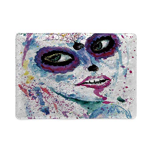 (Girls Utility Notebooks,Grunge Halloween Lady with Sugar Skull Make Up Creepy Dead Face Gothic Woman Artsy for Work,5.82