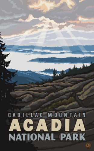 Northwest Art Mall Acadia National Park Cadillac Mountain Wall Art by Paul A Lanquist, 11 by 17-Inch Cadillac Mountain Acadia National Park
