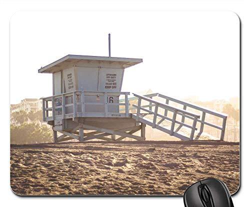 Mouse Pads - Lifeguard Hut Beach Sand Summer