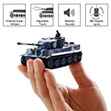 SGILE RC Radio Tank Xmas Gift Toy, Remote Control Invincible Tornado Twister Power Wheels Stunt Car Rechargeable Toys for Boys, Grey