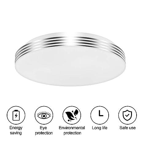 Lámpara de Techo Inducción, careslong Simple Ultra Delgado Moderna Inteligente 18W Luz de Techo LED 2000lm 6500K Downlight Plafon de Colgantes ...