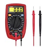YOHOOLYO Digital Multimeter LCD Palm Size Handheld Digital Multimeter Volt Amp Ohm Meter with Diode and Continuity Test