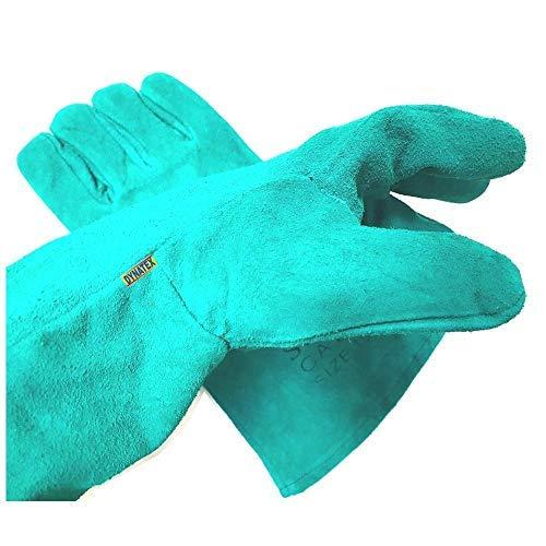 Log Fire Wood Burner Glove Stove Welders Gauntlet 1 Pairs Hi Heat Gloves Welding DYNATEX