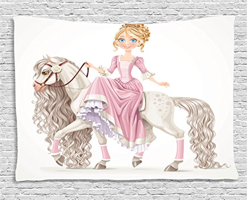 Ambesonne Teen Girls Decor Tapestry, pretty Smiling Princess