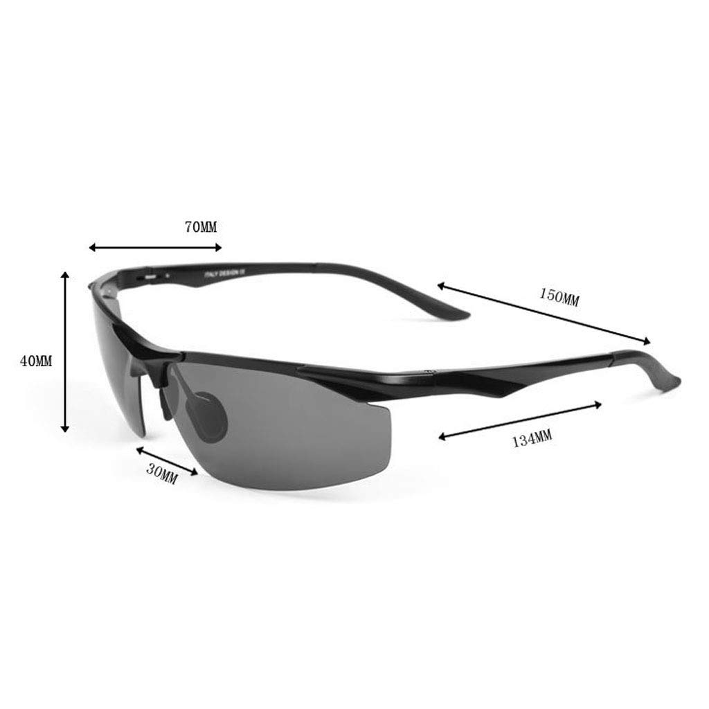 Color : Black GUO XINFEN Polarized Sunglasses Aluminum Magnesium Mens Sunglasses Outdoor Sports Riding Goggles Driving Glasses