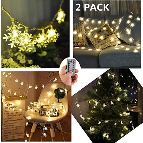 Led Snowflake Icicle String Lights in US - 4