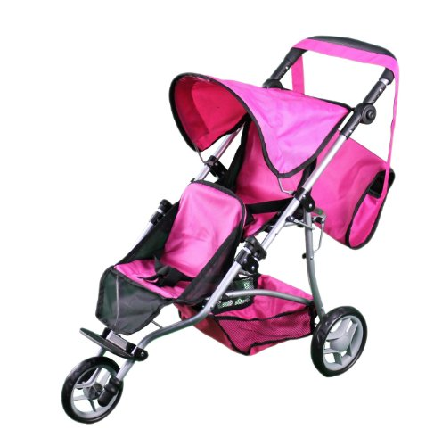 Mommy & me Twin doll jogger 9669DL with FREE carriage bag (Doll Double Stroller Baby)