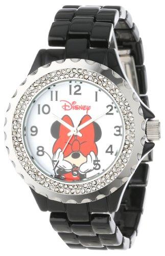 Disney Women's W000502 Minnie Mouse Enamel Sparkle Bracelet Watch ()