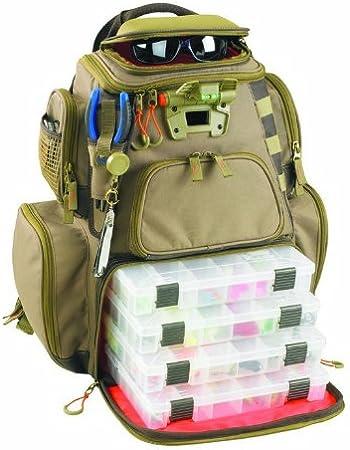 Custom Leathercraft Lighted Protective Fishing Backpack