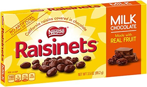 Nestle Raisinets Milk Chocolate Candy 3.5 Ounce Box ( Pack of 3 )