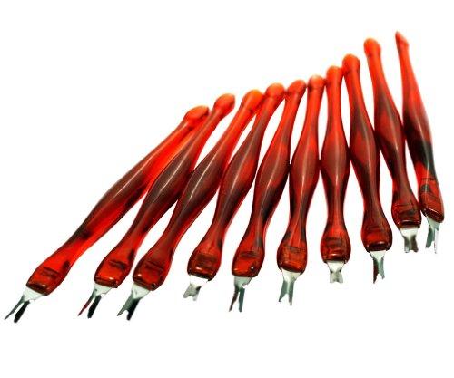 10 x Nagelhautentferner Nagelschere-Werkzeug V-foermig Manikuere Entferner