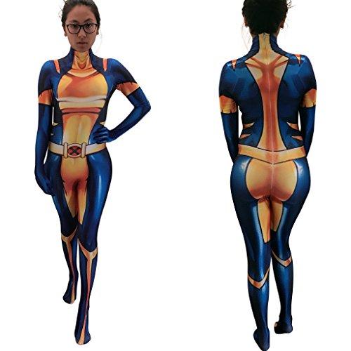 Marvel's X-23 Cosplay Costume | X-23 Bodysuit Suit Morphsuit Zentaisuit | Lycra Fabric - The Mice Costume 3 Blind