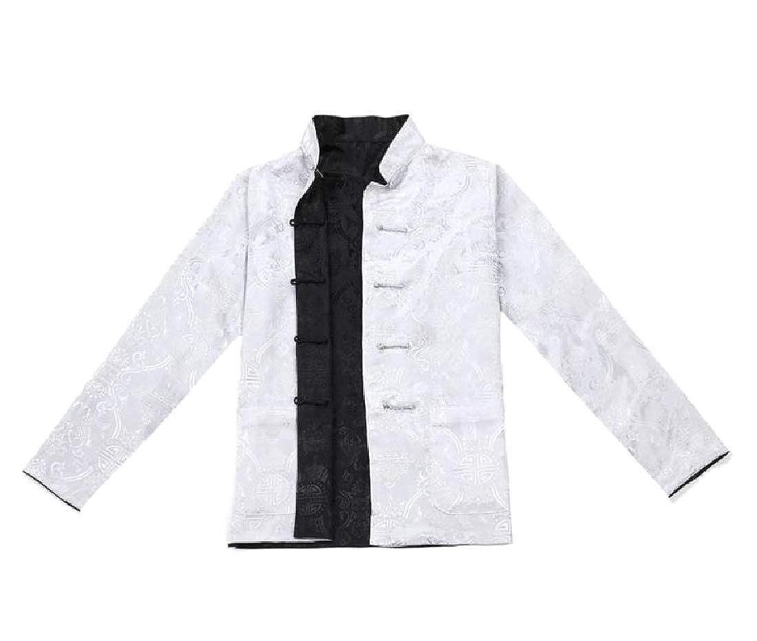 Unastar Men Plus-Size Shirt Individuality Tang Suit Parka Hoodie Jackets