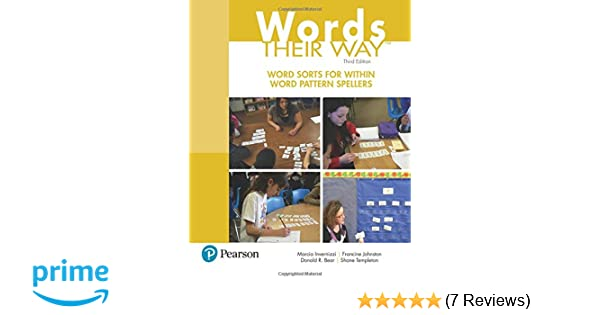 Amazon words their way word sorts for within word pattern amazon words their way word sorts for within word pattern spellers 3rd edition words their way series 9780134575681 marcia invernizzi fandeluxe Image collections