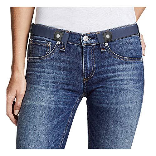 (Buckle Free Women Stretch Belt Plus Size No Buckle/Show Invisible Belt for Jeans Pants Dresses)