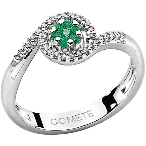 18 Bague en or KT avec des diamants. DIAMANTS P.CT. 13 COL. CLARITY G IS. CHAÎNE EMERALD 0 07 ANB REF 1389