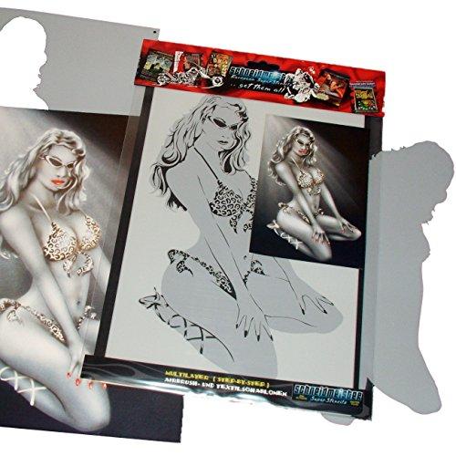 (Schneidmeister PIN-UP Stencil Girl Premium Airbrush Template Stencil, 11