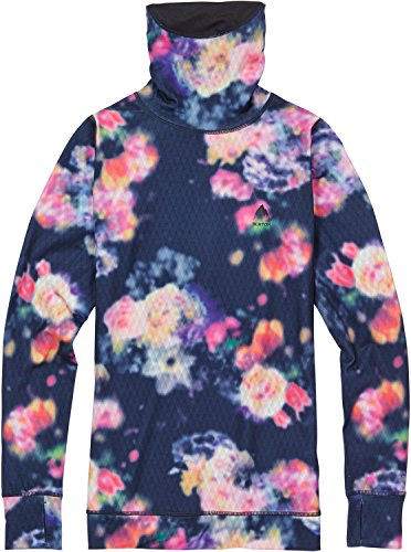 Burton Women's Midweight Long Neck Tops, Prism Floral, (Burton Womens Shirt)