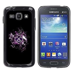 TopCaseStore / la caja del caucho duro de la cubierta de protección de la piel - Cool Design Danger Warning - Samsung Galaxy Ace 3 GT-S7270 GT-S7275 GT-S7272