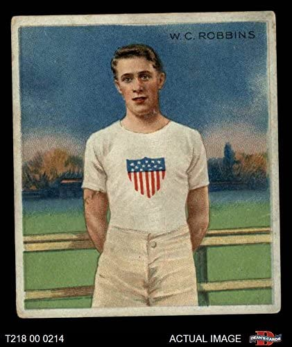 1910 T218 Champions # 47 W.C. Robbins (Baseball Card) Dean's Cards 2 - GOOD
