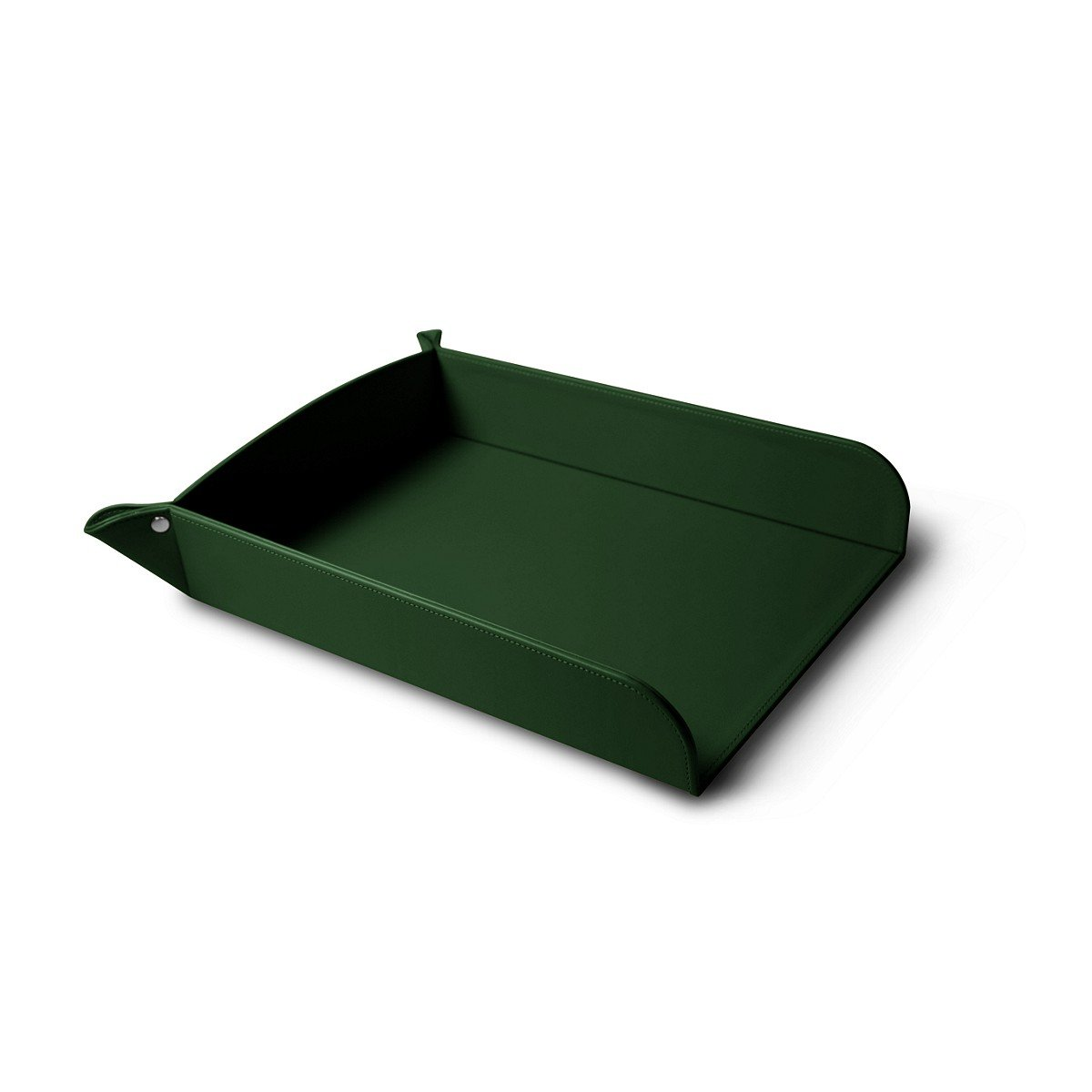 Lucrin Smooth Cow A4 Leather Paper Holder - Dark Green