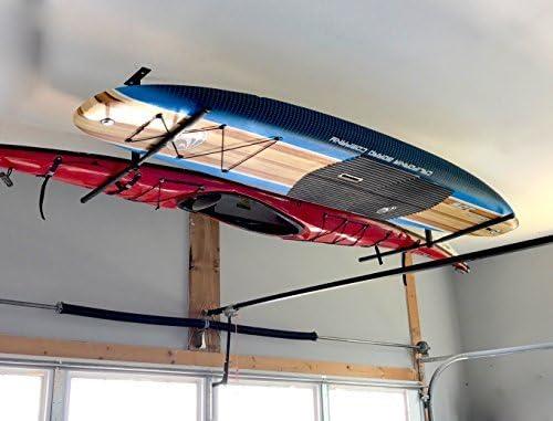 Maison /& Garage StoreYourBoard Double Sup /& Surf Rack De Stockage Au Plafond Hi Port 2 Support De Suspension