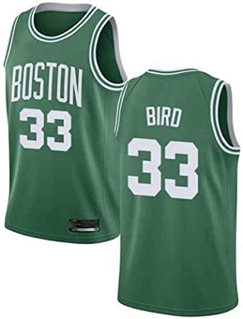 YB-DB NBA Los Hombres de la Camiseta de Baloncesto de la NBA Boston Celtics # 33 Larry Bird Ventilador Jersey, Baloncesto Jersey Uniforme, Malla Chaleco de la Camisa,XL (85~95kg): Amazon.es: Hogar