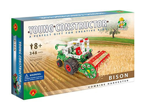 Young Constructor- Erector - Bison Model Building Set, 348 Pieces, For Ages 8+,100% Compatible with All Major Brands including Meccano