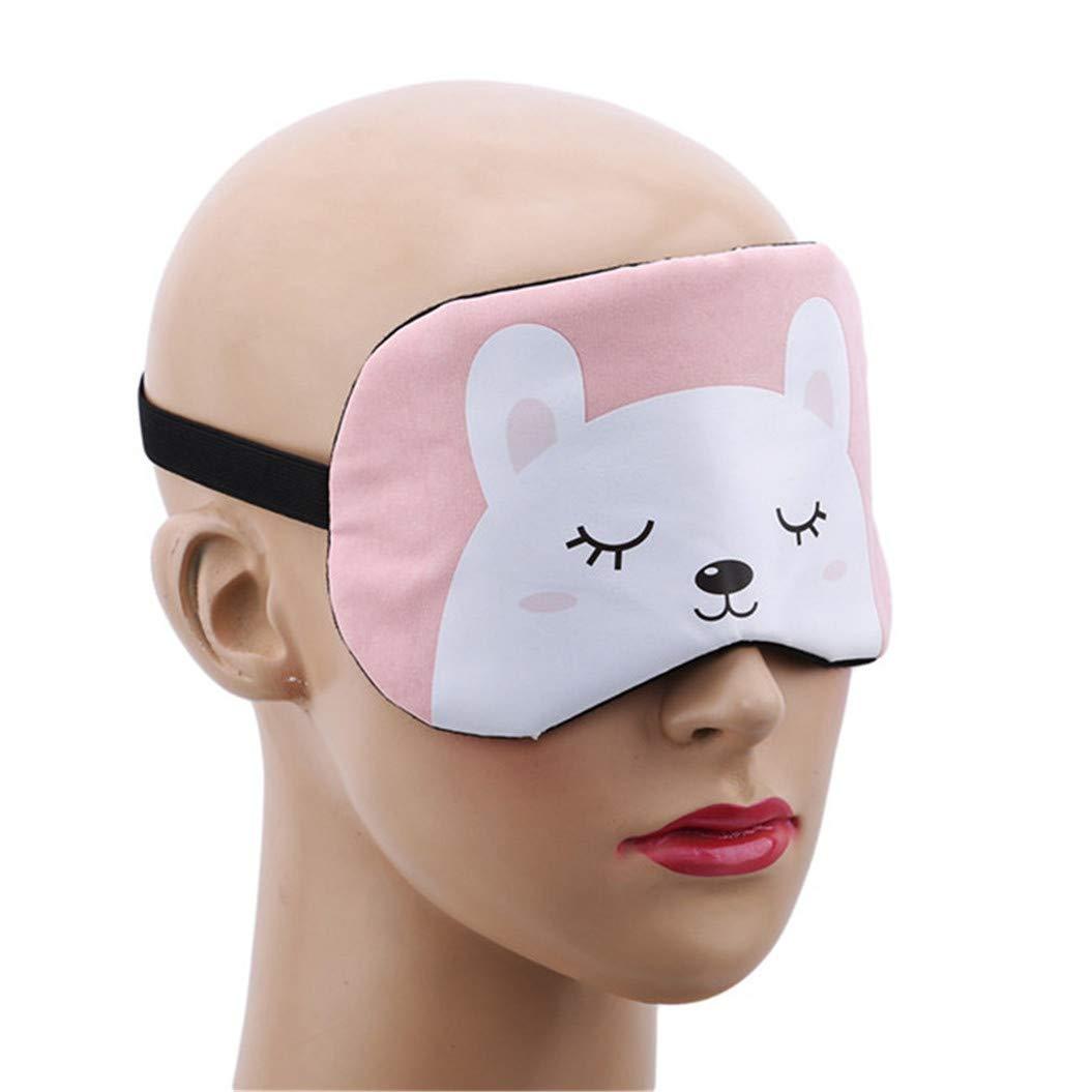 LZIYAN Cartoon Sleep Eye Mask Cute Animal Pattern Eye Mask Blindfold Eye Patch Sleeping Eyeshade Travel Shade Cover,White bear by LZIYAN (Image #5)