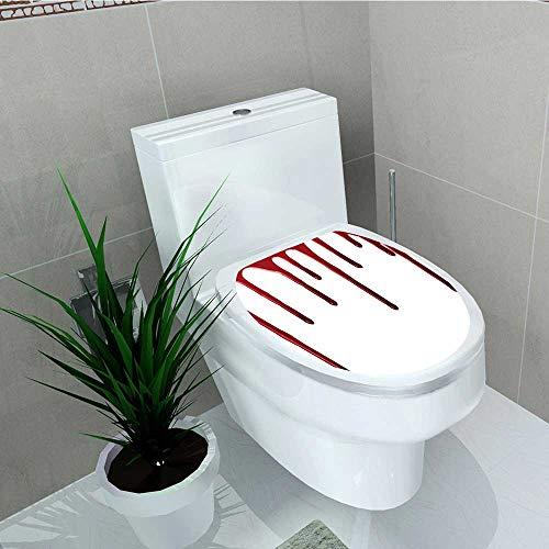 Analisa A. Houk Bathroom Toilet Flowing Blood Spooky Halloween Zombie Crime Vinyl Decal Sticker W14 x -