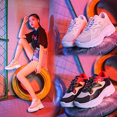 Tacco Maglia colore 37 Comfort He Un yanjing Stringate Corsa Da Donna Piatto In Scarpe Dimensione Un Casual Donna BPSBxOva