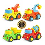 uhaul toy truck - Drop and Go Dump Truck City Building Construction Series of Children's Toys Mini Car Smiley Baby Truck Back Car Inertial Car