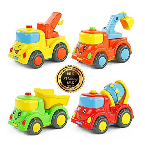 Drop and Go Dump Truck City Building Construction Series of Children's Toys Mini Car Smiley Baby Truck Back Car Inertial - Locations For Stores Target