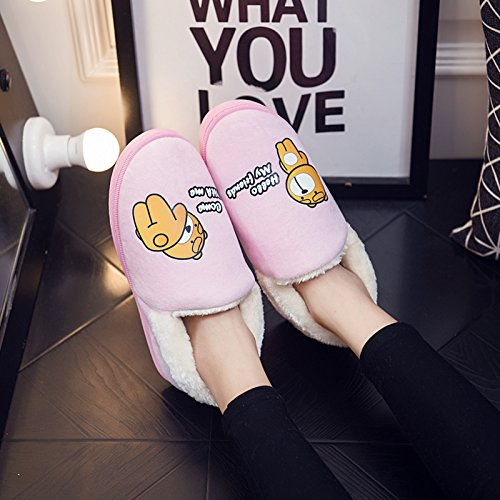 Chaussons antiglisse d'hiver Padded intérieur chauds LaxBa Rose Hommes Femmes mètres Cotton peluche Slipper 3738 39 38 Chaussures qIgYAUw
